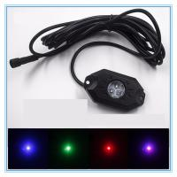 Quality 4 Pods RGB LED Rock Security Lights with Bluetooth Controller for Music Mode , Flashing for sale