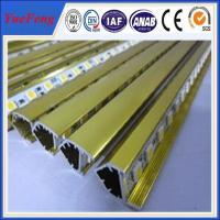Quality aluminum profile for led display in golden finshing being good quality for sale