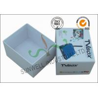 Buy Corrugated Coated Paper Electronics TV Packaging Boxes White Color Matt at wholesale prices