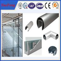 Quality 6000 series octagonal aluminum tubes / aluminum profile half round tube for handrail for sale