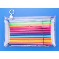 Quality Clear Vinyl PVC Reusable Ziplock Bags Zip-lock Stationery Bags Clear Students PVC Pencil Case for sale