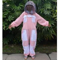 Quality Hooded Breathable and Pink Beekeeping Protective Clothing With YKK Zipper for sale