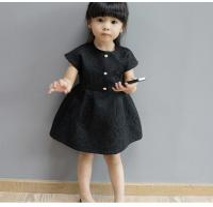 China Etonzoe Girls Black Princess Dress Fancy Dress Children Apparel on sale
