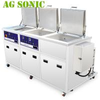 Quality Fuel Injector Industrial Ultrasonic Cleaning Machine With Rinsing Drying Tank for sale
