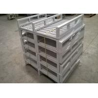 Quality Dark Bule Recyclable Stackable Steel Pallets With Heavy Loading Support for sale