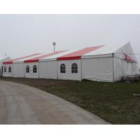 Large commercial party tent wth white / red Double PVC Coated Rooftop for sale