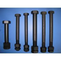 Buy cheap Black Painted Low Carbon Steel Bolts DIN 931 High Strength For Sealing from wholesalers