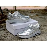 Quality Nike airmax 90 & 1 SP liquid gold running shoes liquid silver sneakers for men/women size for sale