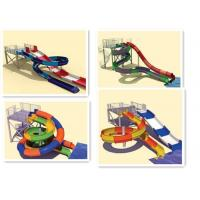Quality Interactive Swimming Pool Water Slide Equipment Mix Color Steel Columns for sale