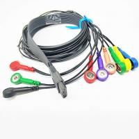 China 10 leads Schiller Black TPU Ecg holter Cable , 24 Hour  Ecg Cable For Ecg Machine on sale