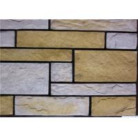 China Rectangle Artificial Wall Stone With Strong Adhesion Color Solid Focus on sale