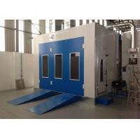China Water Curtain Paint Spray Booth With Drying Oven Diesel Burner Heating Turbo Fan on sale