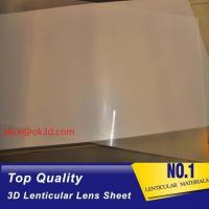 Quality Offset press machine   0.18mm 200 Lpi, 51x71cm  3D Film Lenticular Lens Sheet for UV offset printer annd injekt prin for sale