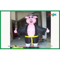 Quality Kids Bounce House Inflatable Pig Cartoon Character Large Inflatable Animals for sale