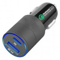 China 18w 12v 24v Dual Port Usb Car Charger  Pd Port Aluminum Alloy Material Lighteweight on sale
