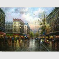 Buy cheap Thick Oil Colorful Paris Painting , Impressionism Wall Art Paris Street Living from wholesalers