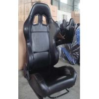 Quality Black PVC Leather Comfortable Racing Seats With Harness OEM / ODM Welcome for sale