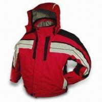 Quality Men's Ski Jacket with Hood and Polar Fleece Lining, Available in M, L, XL, and XXL Sizes for sale