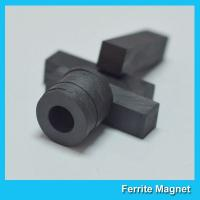 Ferrite Ceramic Round Magnets Ring Shaped For Speaker / Motor / Sensor for sale