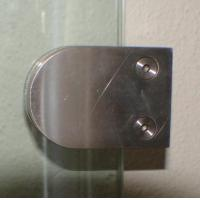 Buy cheap Railing accessories Stainless steel 316L glass clamps L6015 for rail balustrade from wholesalers