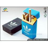 Quality Luxury Covering Cigarette Packaging Box Embossing Printing Handling OEM / ODM for sale