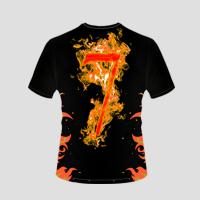 Quality Customized Full Sublimation Printing T Shirts Breathable Polyester / Cotton for sale