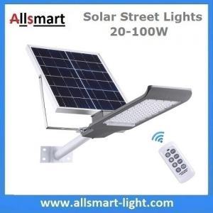Quality 20W~100W Separated Solar Street Lights Remote Control Solar Floodlights Solar Garden Driveway Lighting for sale