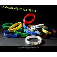 Quality new interesting products rainbow silicone bracelet / rubber pvc wristband / silicone band for sale