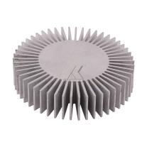 Quality sunflower shape aluminum profile anodized clear finished aluminum heat sink 6063-T5 radiator for LED for sale
