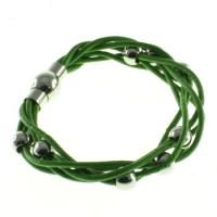 China customized Green Leather Wrist Bracelets outlet , magnetic wrist bracelet on sale