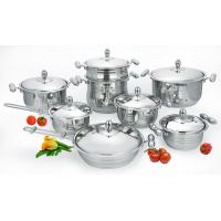 China 6pcs tri-ply stainless steel cookware sets on sale