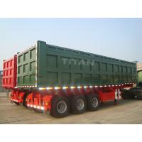 China TITAN VEHICLE 3 axle 80 tons 42 CBM semi dump trucks for sale  on sale