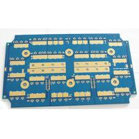 Controllers 2 Sided 4 Layer PCB Board Blue Solder Gold Finish 0.3MM Thickness