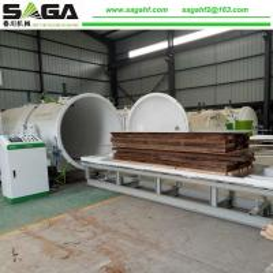 China Kiln Drying Wood Machine Timber Seasoning Plant From SAGA Machinery on sale