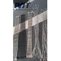 Buy cheap sample of 40*40mm ss316 knotted rope mesh from wholesalers