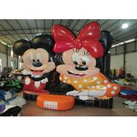 Quality Disney big inflatable jump bounce hot sale minnie digital painting inflatable bouncer house on sale for children for sale