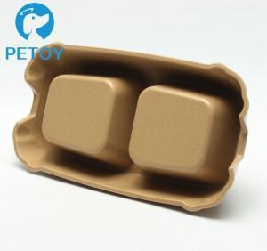 Buy Biodegradable Bamboo Pet Bowl Fiber Dog Cat Food Bowls Water Feeding at wholesale prices