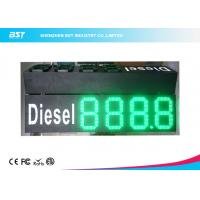 """Quality Custom 10"""" Green Gas Station Digital Price Signs To Display Daily Prices for sale"""