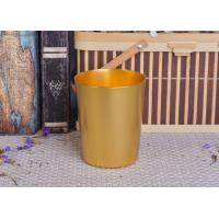 Quality 334ml Gold Metal Aluminum Tin Candle Holders / Candle Jar For Home Decoration for sale