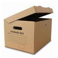 Quality Cardboard Archive Storage Corrugated Paper Packing Box Custom Print for sale