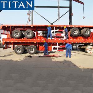 China TITAN 20/40ft bogie suspension commercial flatbed trailer manufacturers on sale