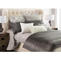 Quality Leaf Embroidered Twin Size Bedding Sets 4 Pcs Color Customized With Different Size for sale