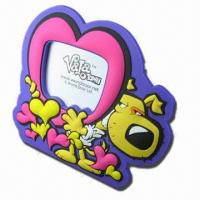Quality Photo Frame, Made of PVC/Silicone, for Promotional Gifts, Customized Designs/Sizes/Colors Accepted for sale