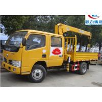Quality Dongfeng double rows 3.2ton truck mounted crane for sales for sale