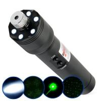 China High power 200mw Green laser pointer/laser pen +LED flashilight+burn things on sale