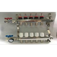 Quality Russia Style Long  Flow Meter Radiant Heat Manifold With White Control for sale