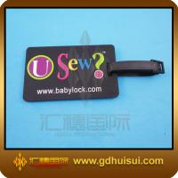 Quality rectangle soft pvc unique luggage tags for sale