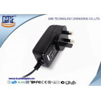 Quality Black 3 Prong 24W 2A 12 volt ac dc adapter With CE Certified for sale
