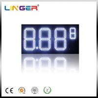 Quality Outdoor White Color Roadside Gas Station Led Price Sign With CE / RoHS Approved for sale