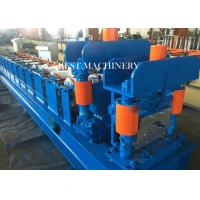 Buy Classic Galvanized Aluminum Steel Metal Roof Ridge Cap Tile Roll Forming Machine 14 station at wholesale prices